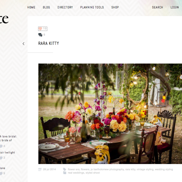 White Magazine Styled Shoot Blog Feature