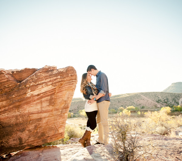 Nevada Desert Engagement Session - Dani & Aaron