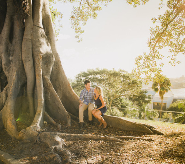 Sydney Observatory Hill Engagement Session - Pete & Shana