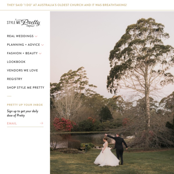 Lucy & Paul's Wedding Featured on Style Me Pretty