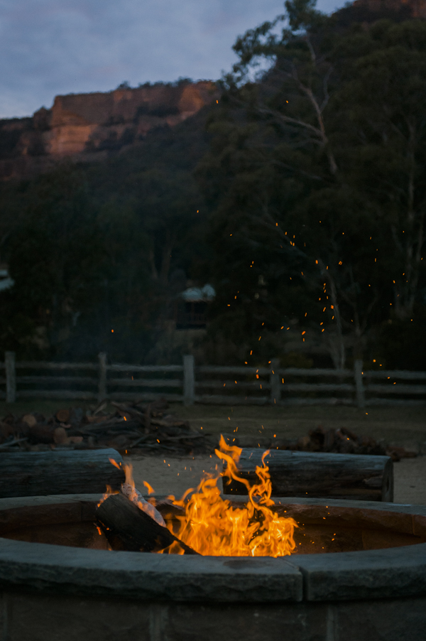 Blue Mountains Open Campfire Wolgan Valley